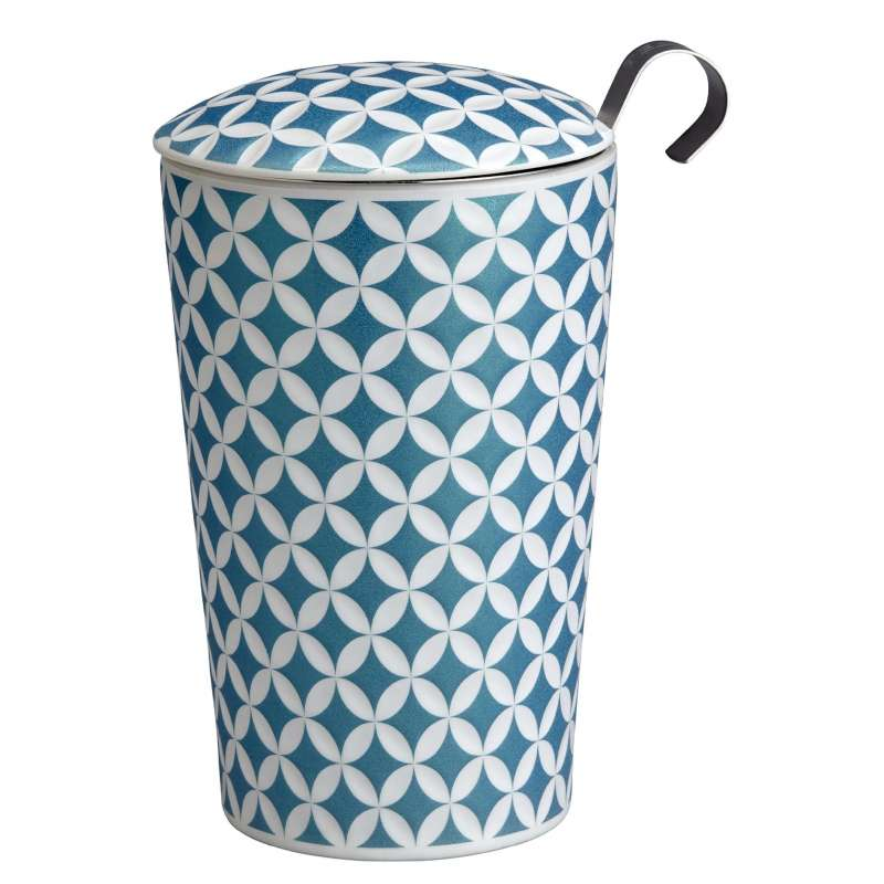 Tisanière céramique bleu