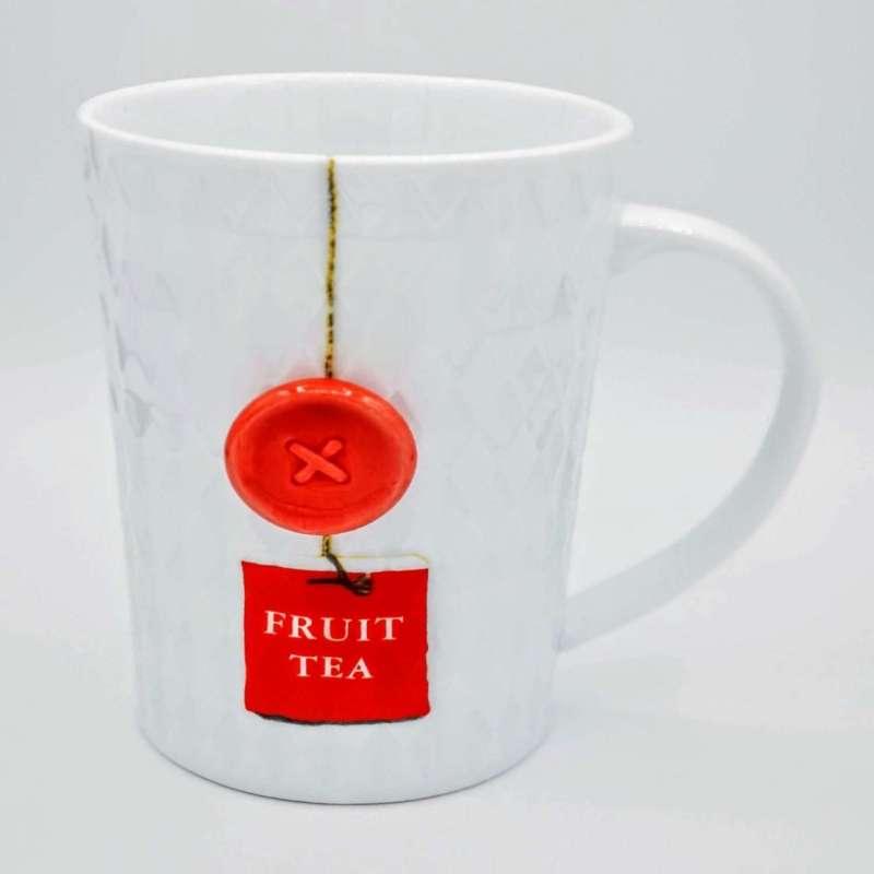 Mug Thé avec bouton design rouge