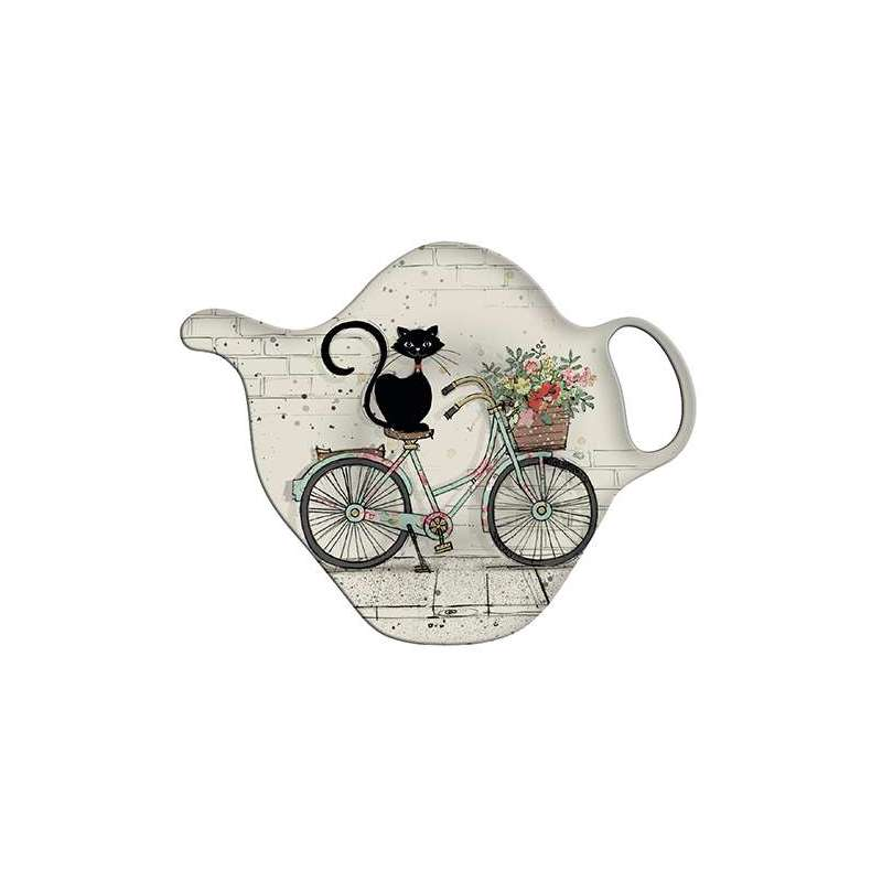Repose sachet déco Chat cycliste collection Bug Art - Kiub