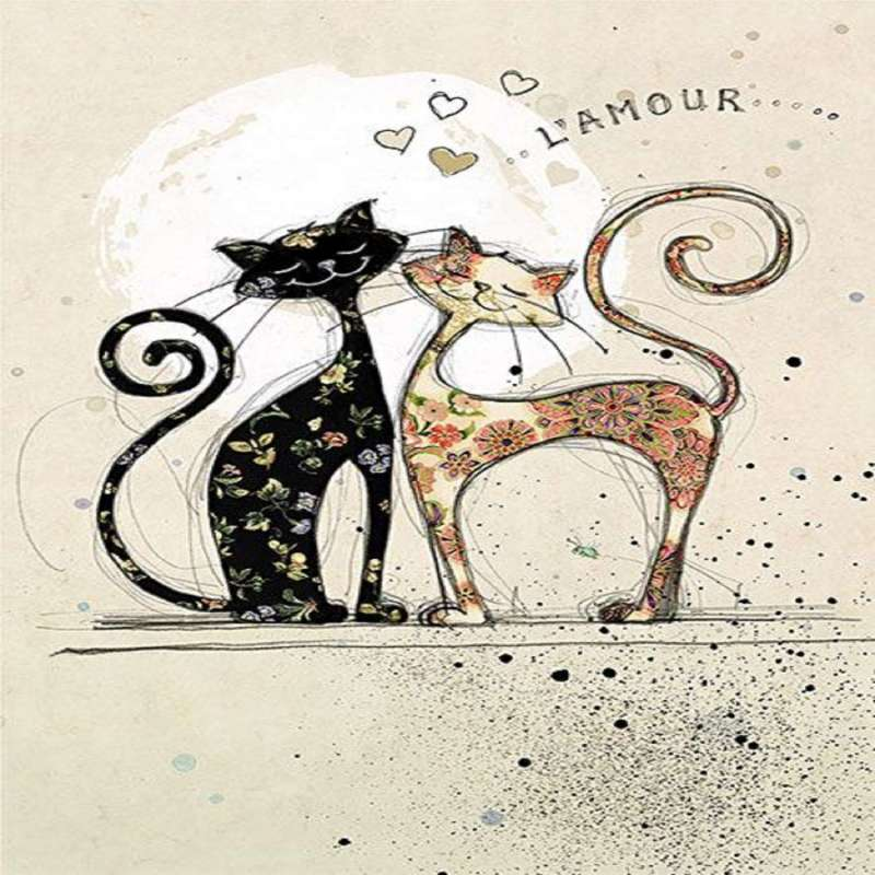 Repose sachet déco Chat Love collection Bug Art - Kiub