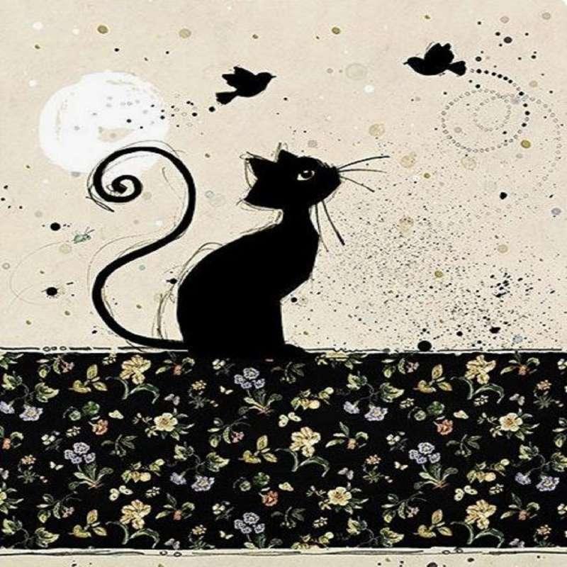 Repose sachet déco Chat oiseaux collection Bug Art - Kiub