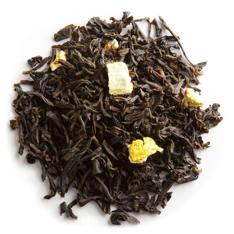 vente de thé noir agrumes orange