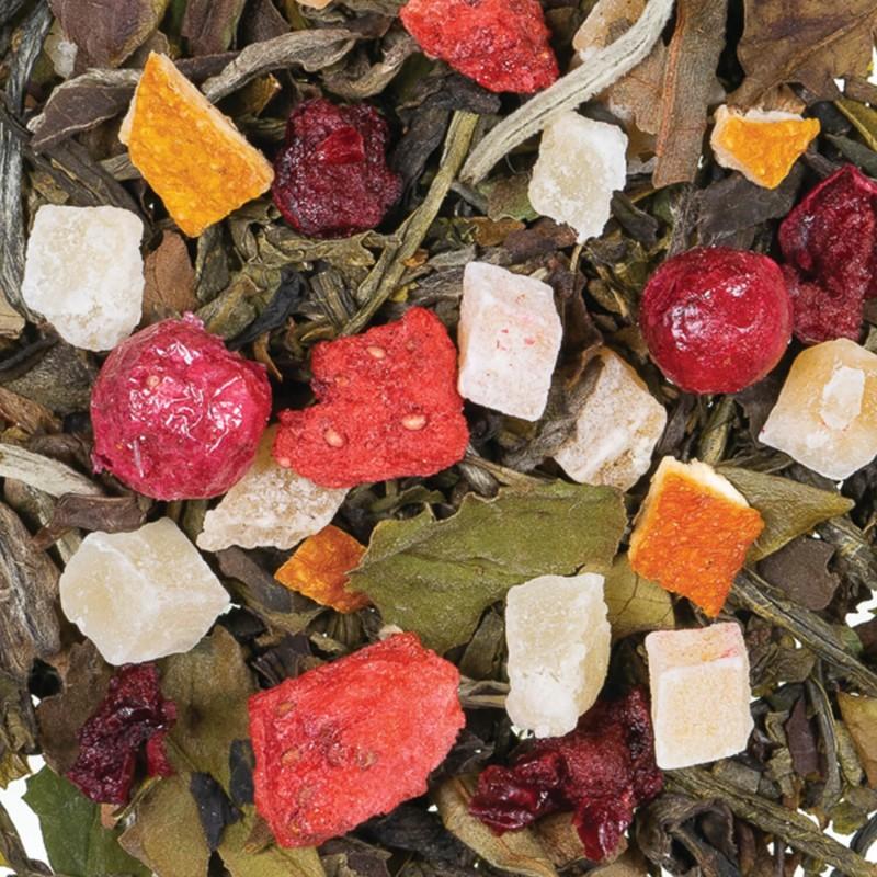 Thé blanc pêche et litchi arôme naturel