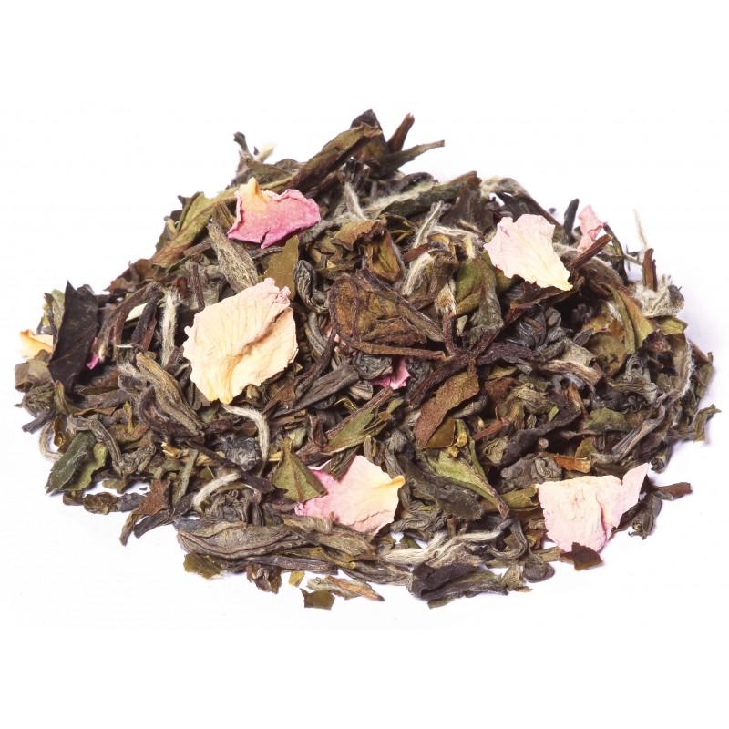 Thé blanc Groseille framboise rose