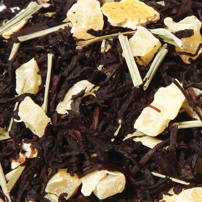 Thé noir gingembre citron - thé gingembre - thé citron- Thé noir gingembre - thé noir citron