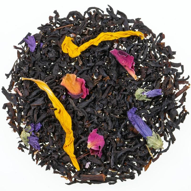 thé noir noir exotique mangue et fruit de la passion