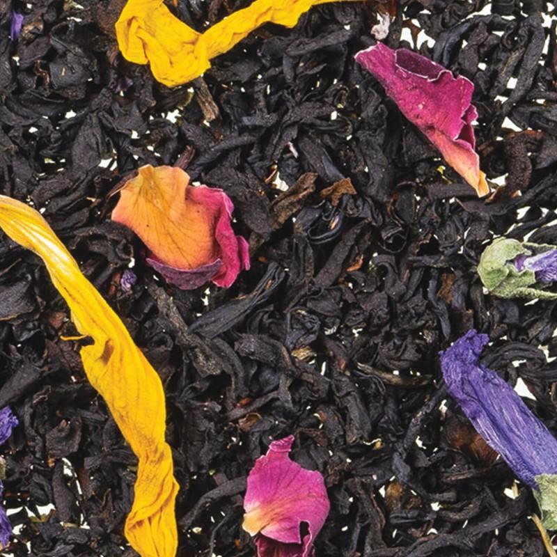 Vente de thé en ligne thé noir noir exotique mangue et fruit de la passion