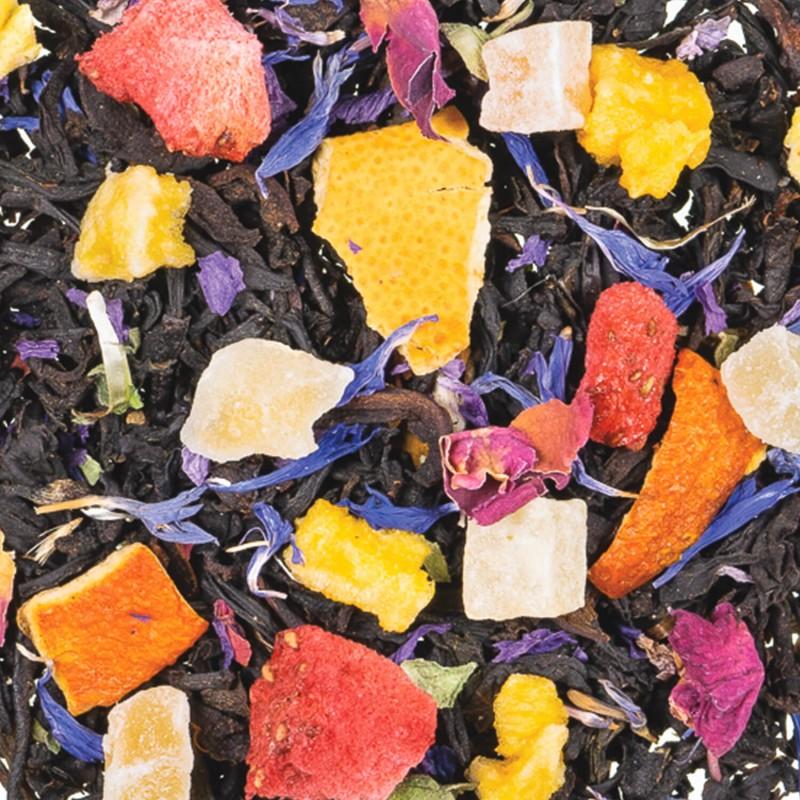 thé noir à la fraise et abricot