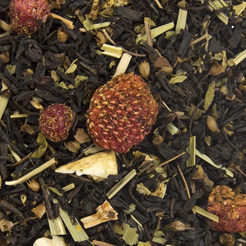 thé noir fraise citron glacé
