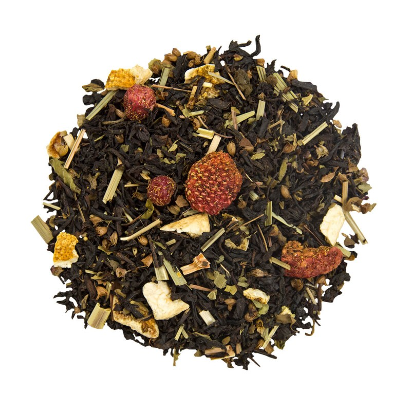 Thé glacé maison - thé glacé - recette thé glacé - thé noir fraise citron
