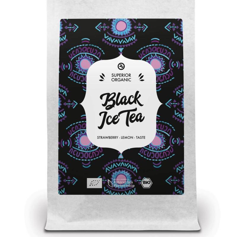 thé glacé noir fraise citron glacé