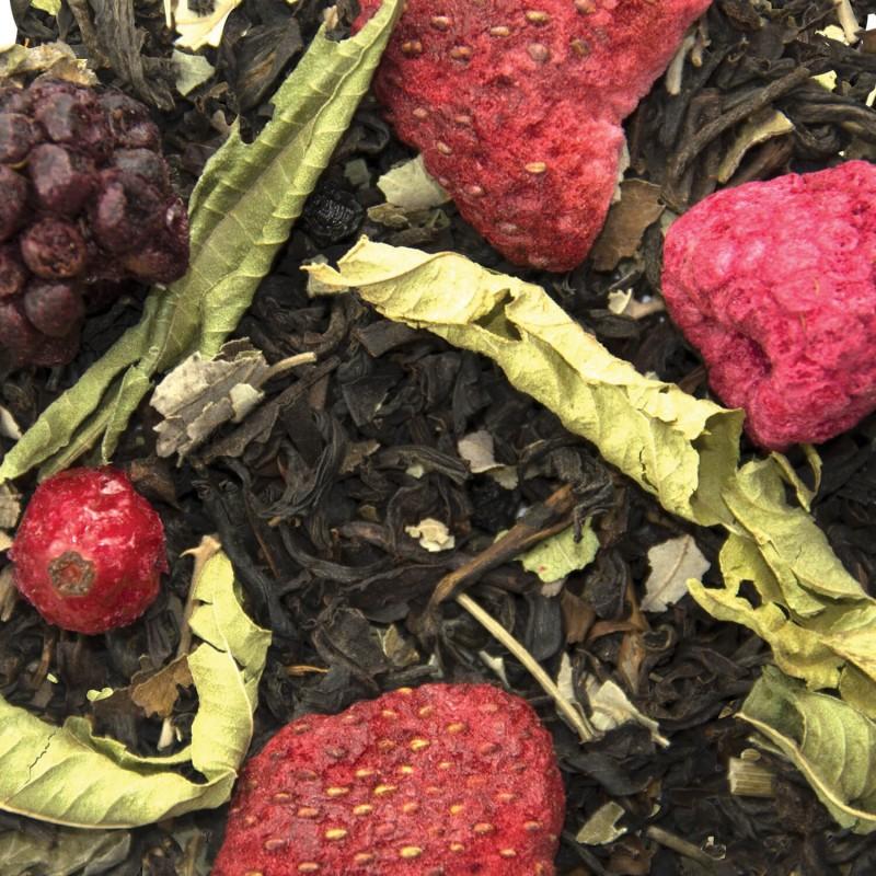 Les fruits rouges bienfaits - thé noir verveine fruits rouges