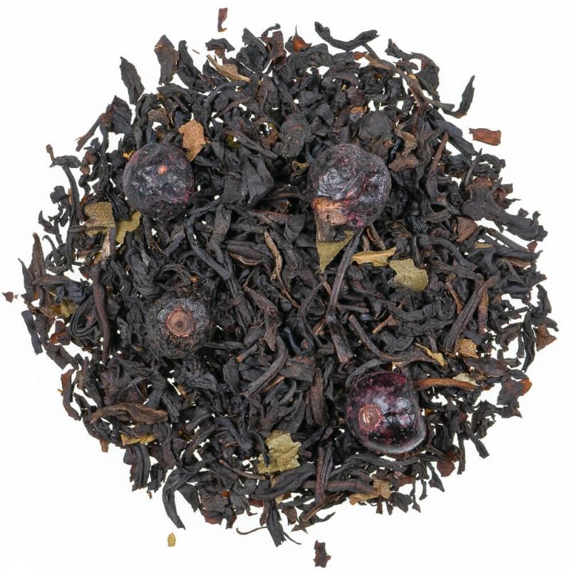 thé au cassis - thé noir fruits rouges - thé noir fruits des bois