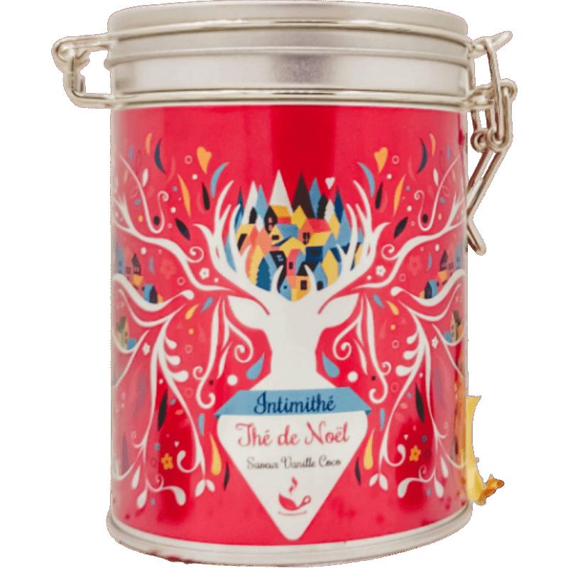 Thé noir de Noël vanille coco - boite cadeau