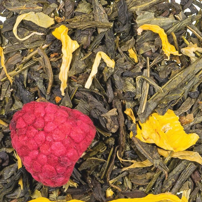 Thé vert framboise - fleur de Jasmin