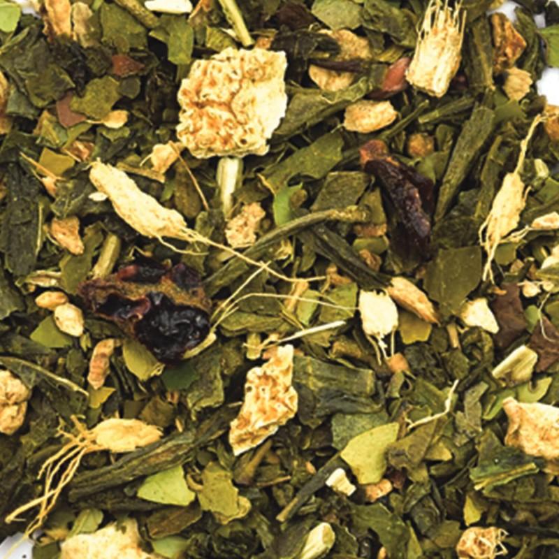 Thé vert Gingembre-Maté vert détox