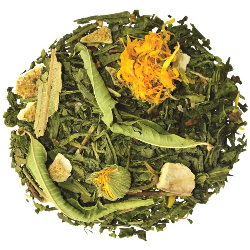 Thé vert Mandarine-Pamplemousse agrumes