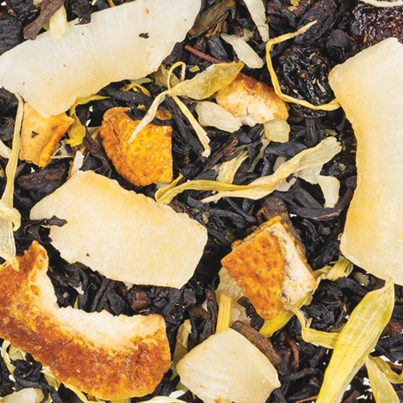 Thé Noir vanille - noix de coco