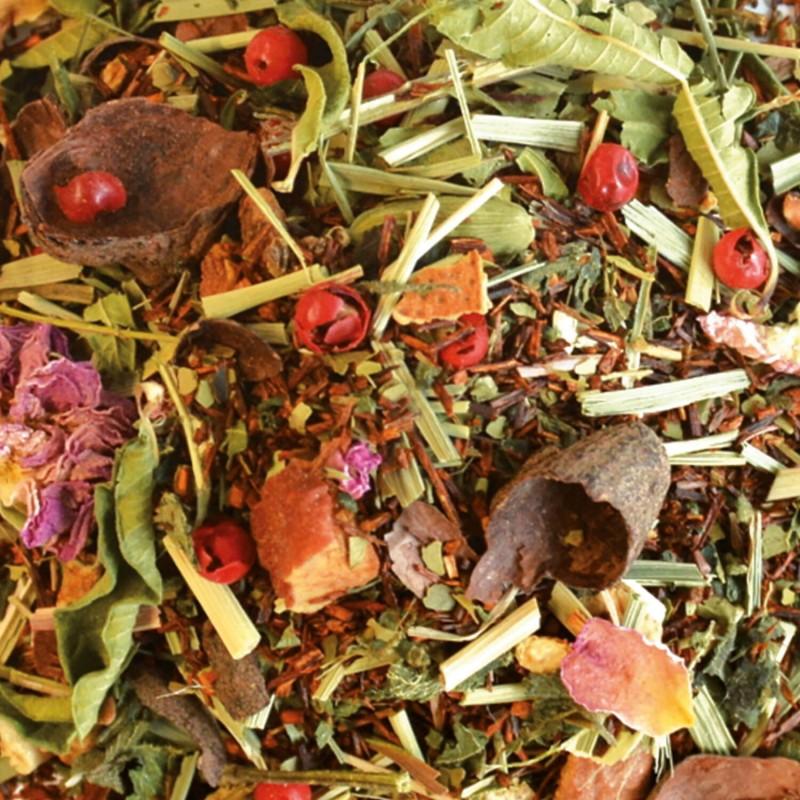 Rooibos Limette-Pamplemousse Rose-thé sans théine