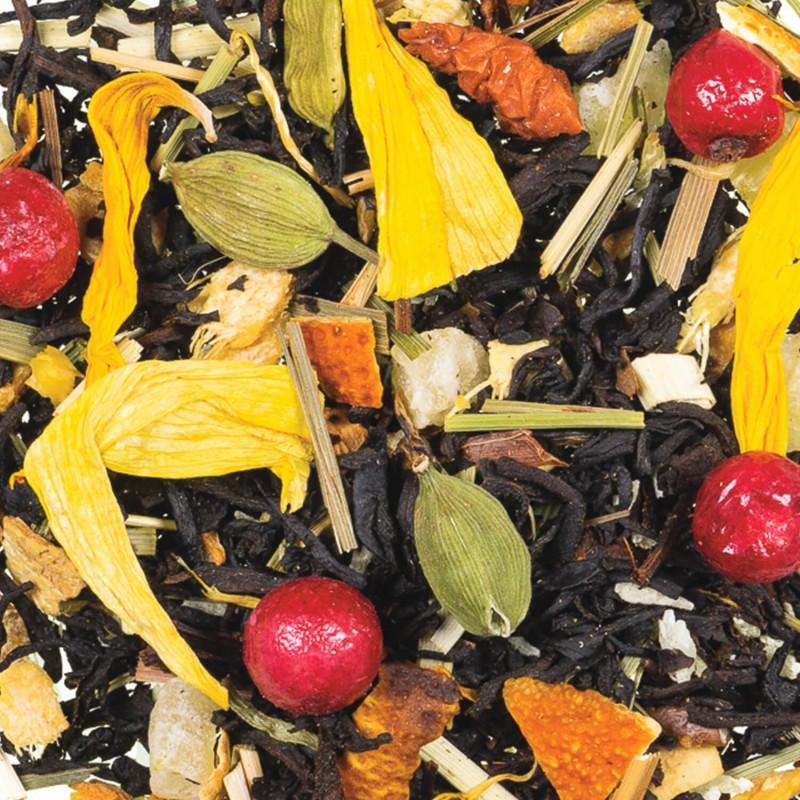 Thé noir citron agrume