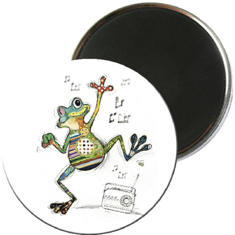 Magnet rond aimanté grenouillet foliz street-Kiub