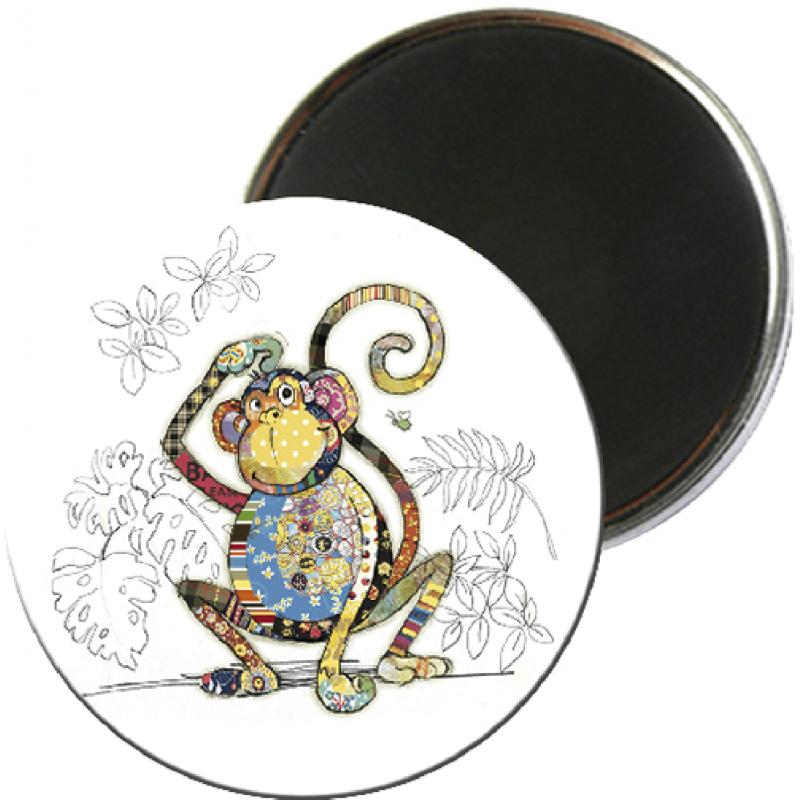 Magnet rond aimanté singe foliz street-Kiub