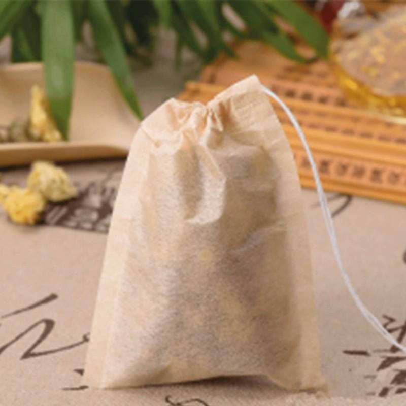 sachet de thé jetable en papier biodégradable avec ficelle