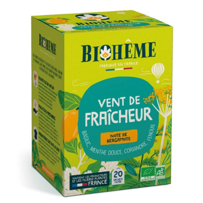 Tisane Menthe basilic fenouil coriandre bio