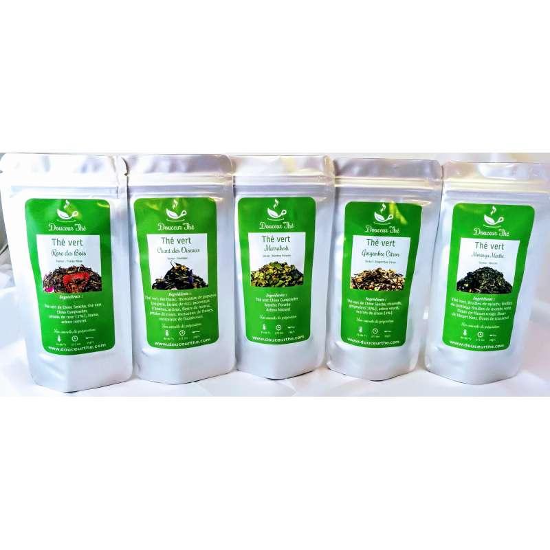 Pack découverte thés vert Douceur Thé