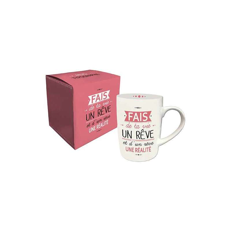 """Mug porcelaine 25cl """" expression de vie """""""