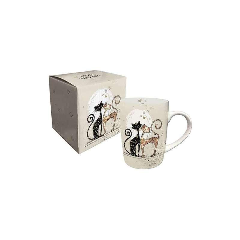 Mug porcelaine Chats love by Bug Art 25 cl