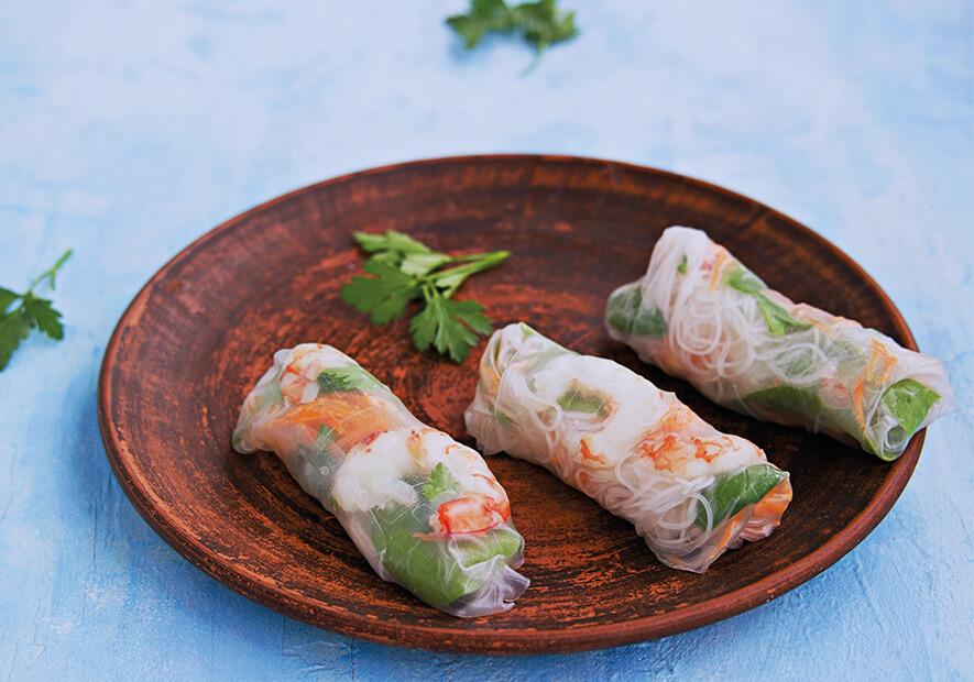 Recette de rouleaux de printemps végétarien ou mixte