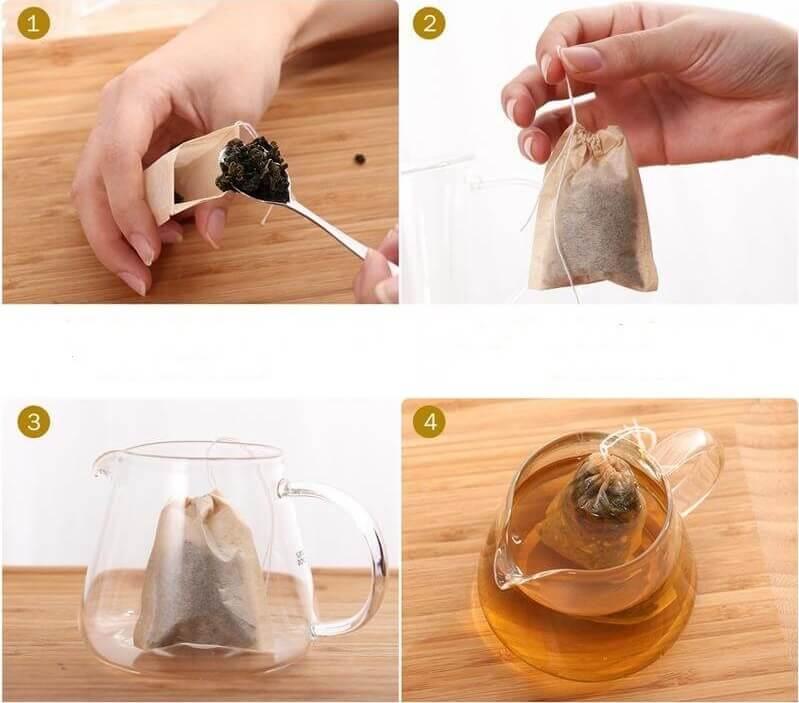 Sachet de thé biodégradable